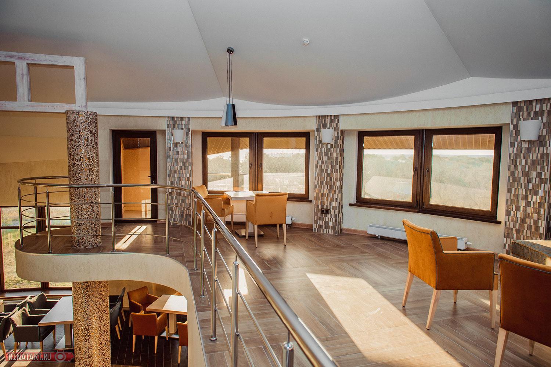 Съемка лестничного пролета в гостинице