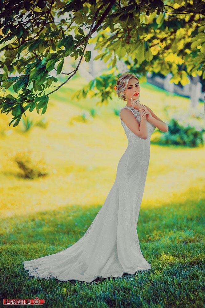 постановочная поза невесты