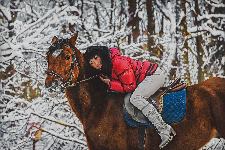 фото с лошадью от рината