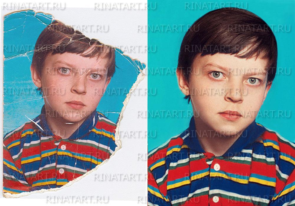 восстановление обрезанных фотографии