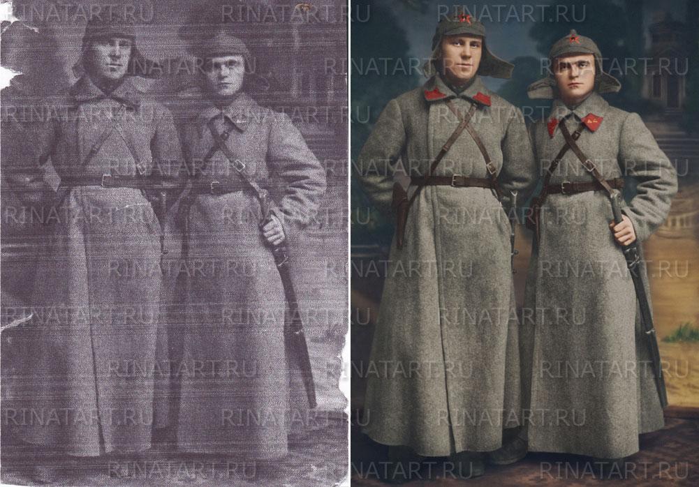 восстановление военных фото