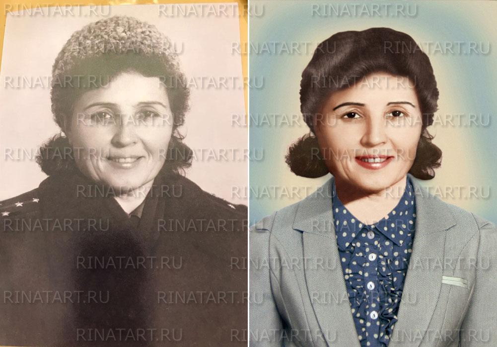 реставрация черно белых фото