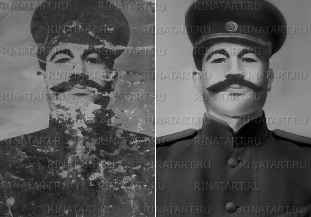 реставрация военной фотографии