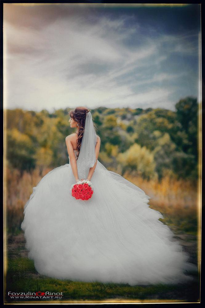 фото невесты на улице