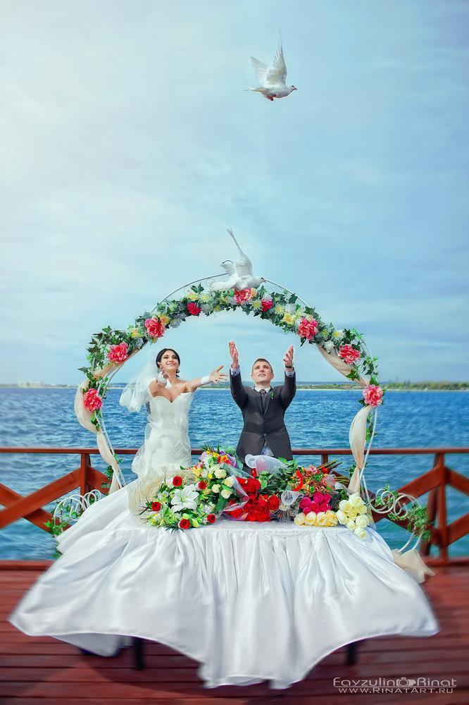летняя свадьба на море
