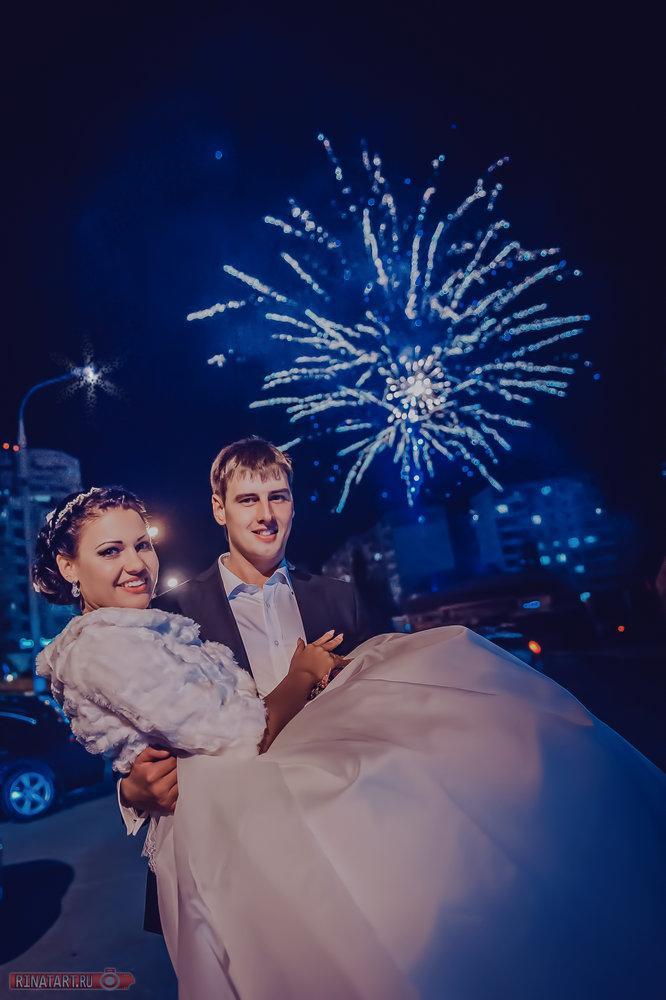 свадьба ночью