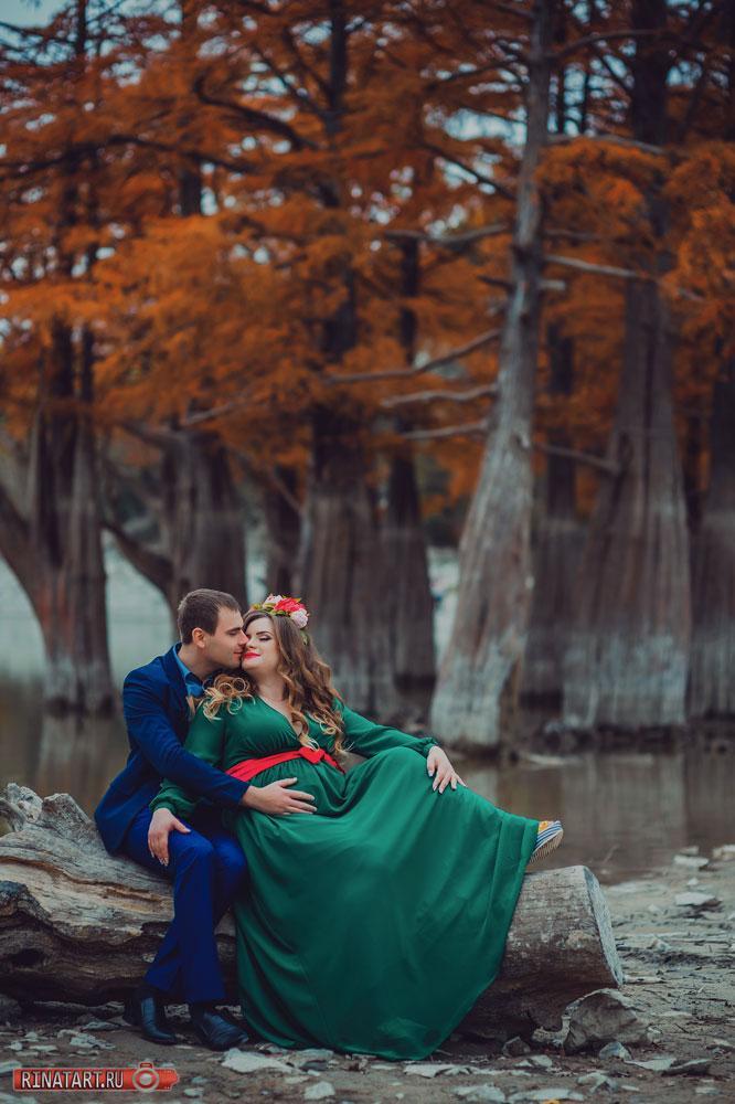 Фотосъемка на кипарисовом озере осенью