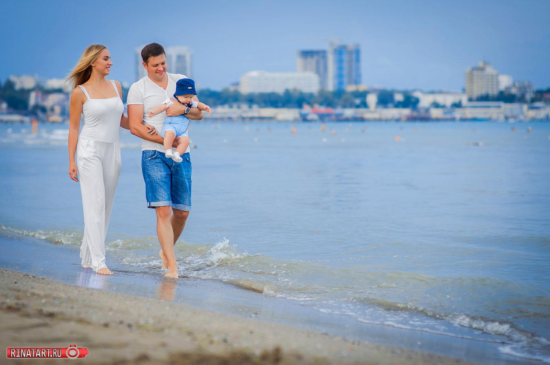 Необычные идеи съемки семьи на пляже в Анапе