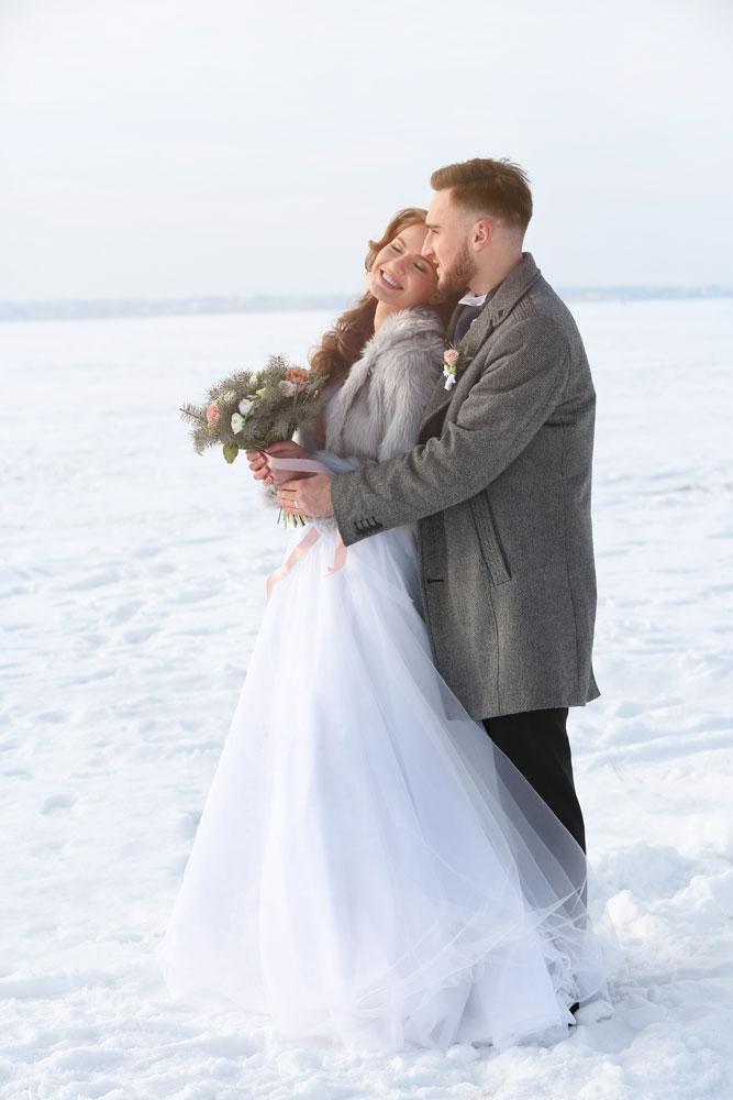 Фотосъемка свадьбы зимой