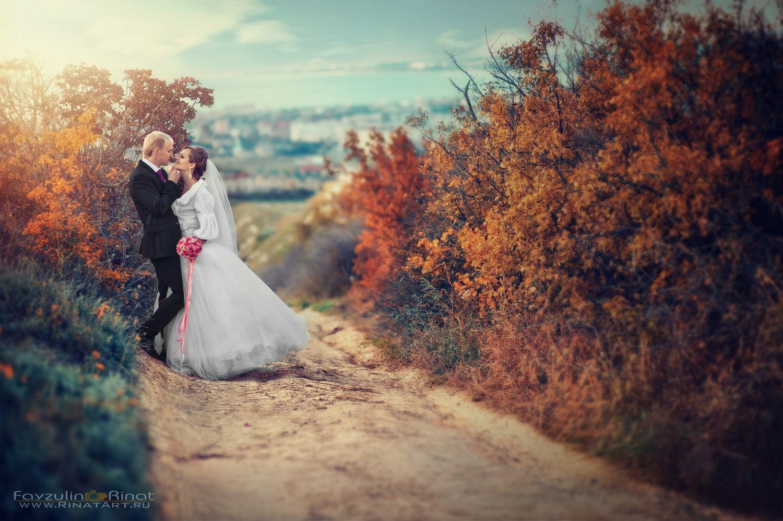 Фотосъемка в местах прогулки жениха и невесты